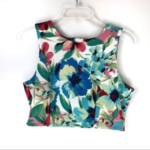Lulu's Cropped Floral Top